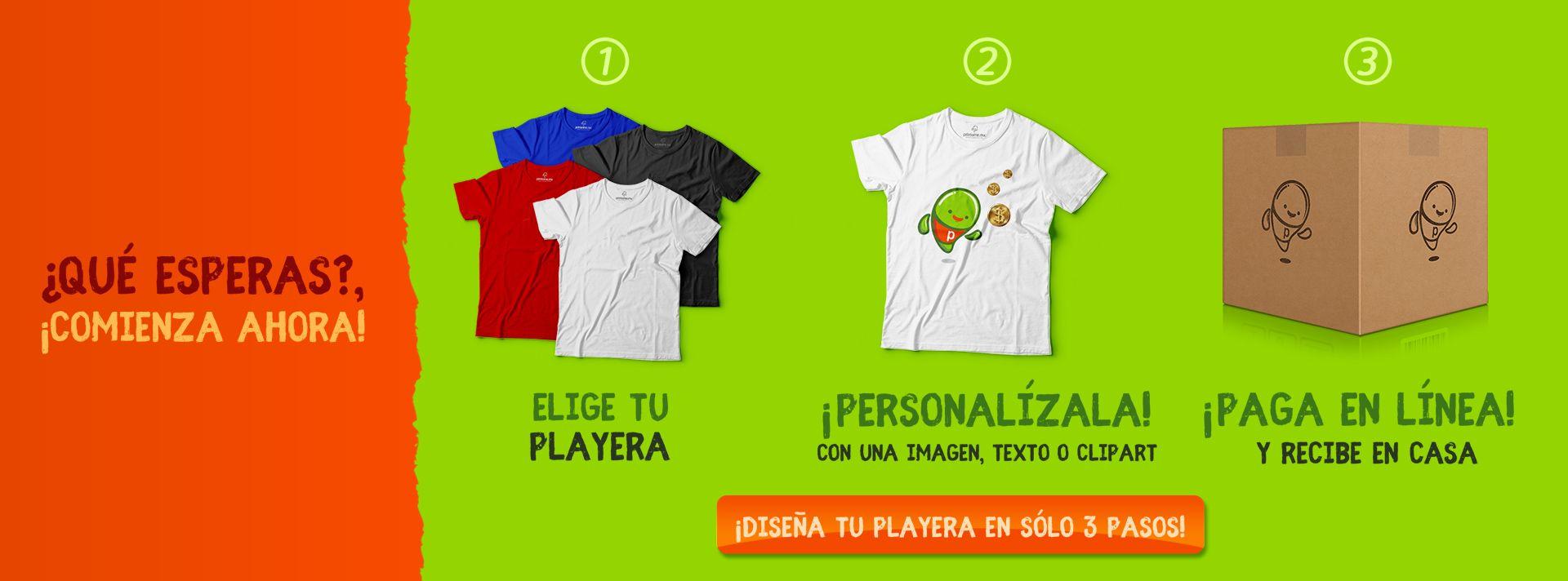 Diseñador de playeras en línea - Printome