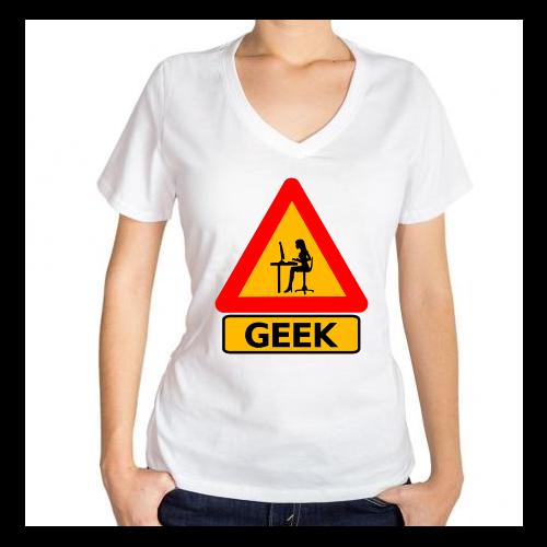 Fotografía del producto Precaucion Chica Geek (530)