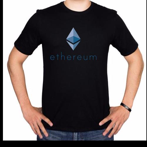 Fotografía del producto Ethereum Black Tshirt (2536)