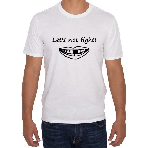 Fotografía del producto Let's not fight Funny Happy Toothless Smile Shirt (10802)