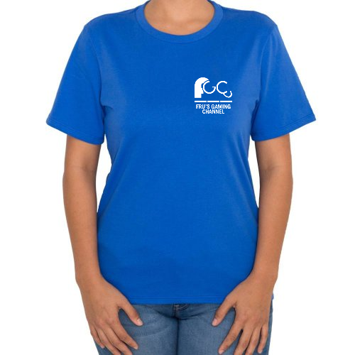 Fotografía del producto Playera logo pequeño FRUs GAMING CHANNEL Mujer cuello v (14517)
