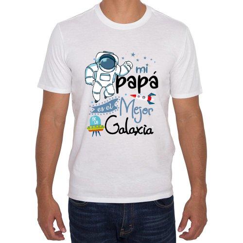 Fotografía del producto Divertida camiseta el mejor papa de la Galaxia (24461)