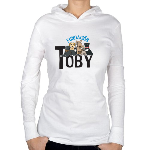 Fotografía del producto Playera blanca Manga Larga Mujer Fundación Toby (26423)