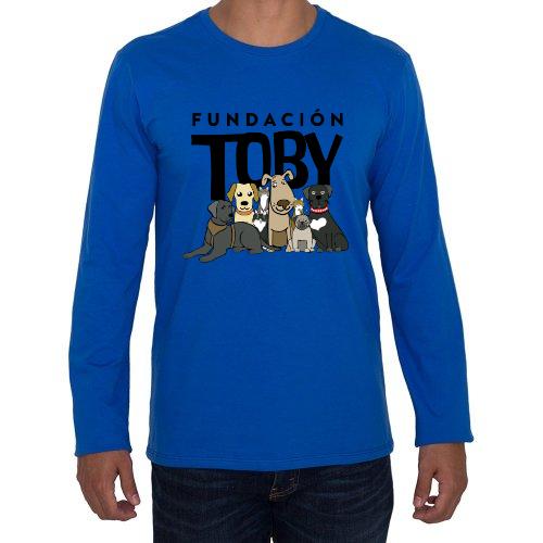 Fotografía del producto Playera manga larga azul hombre fundación Toby (26604)