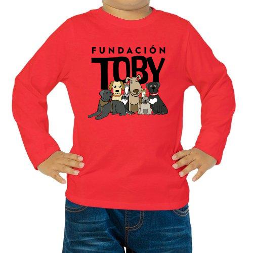 Fotografía del producto Playera niños unisex Roja, Fundación Toby (26676)