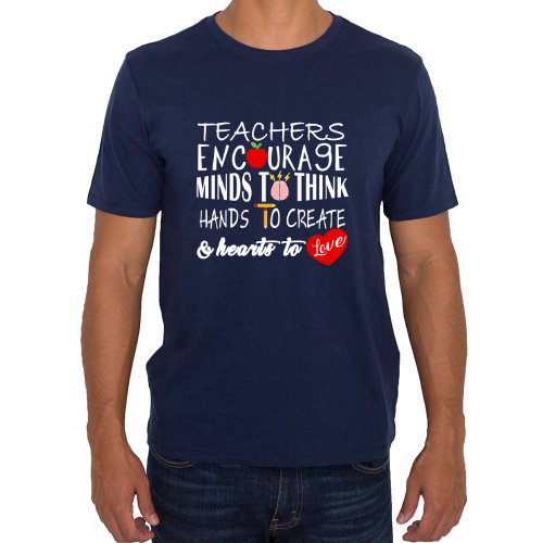 Fotografía del producto Playera Teachers Encourage Minds to Think Hands to Create and Hearts to Love (32532)