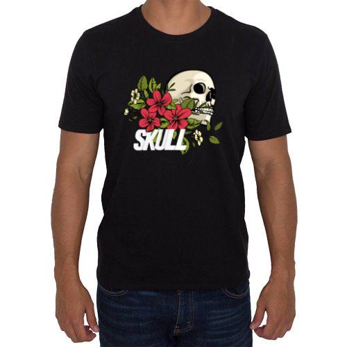 Fotografía del producto Cráneo con flores (35150)
