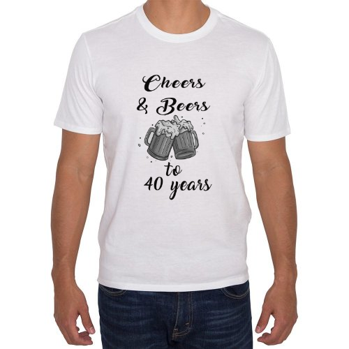 Fotografía del producto Playera Cumpleaños 40 años Cheers and Beers (37240)