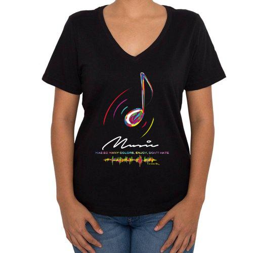 Fotografía del producto Music has many colors Mujer Cuello V (40371)