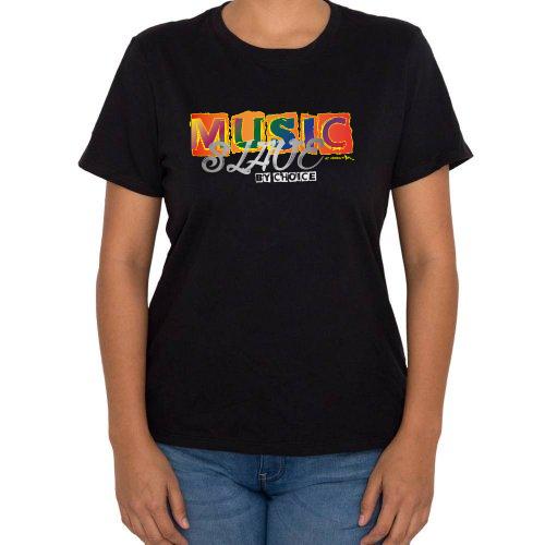 Fotografía del producto Music slave by choice mujer redondo (40406)