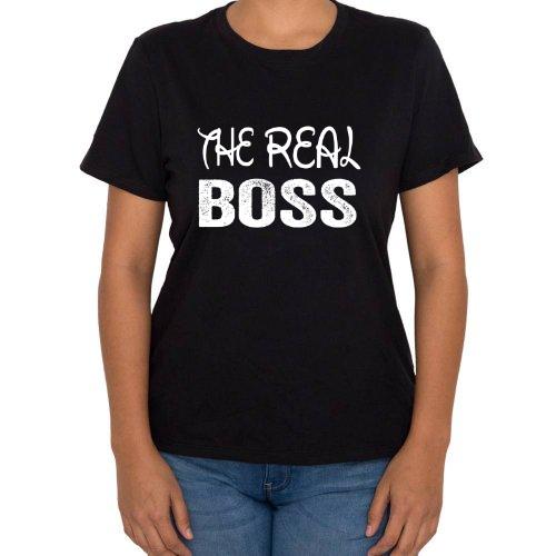 Fotografía del producto The Real Boss Playera para Mujer Parejas (41329)