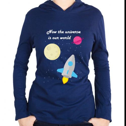 Fotografía del producto Now the universe is our world - sudadera (46206)