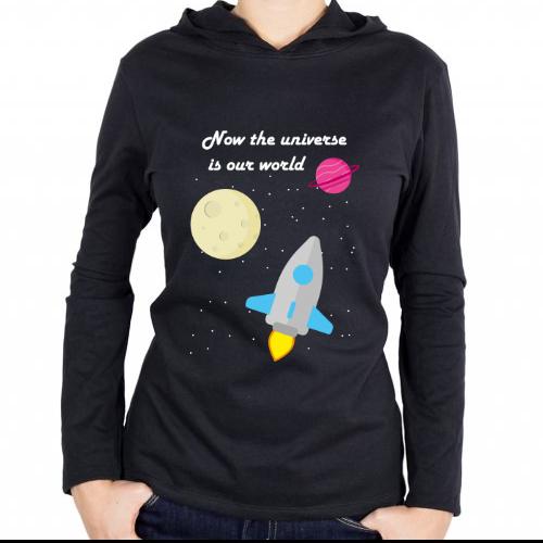 Fotografía del producto Now the universe is our world - sudadera (46413)