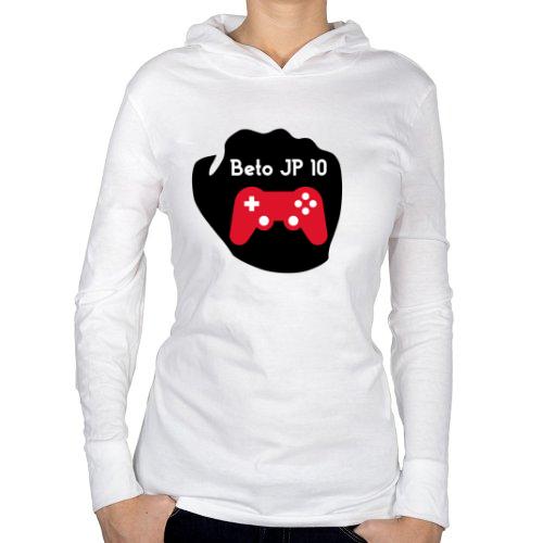 Fotografía del producto Playera manga larga con capucha dama- Logo Grande Beto JP 10 (47091)