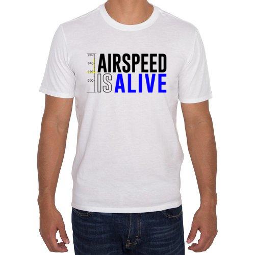 Fotografía del producto Airspeed is alive / blanca / Playera hombre (48890)