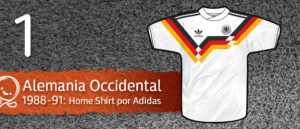 Jersey Fútbol Alemania Occidental 1988-1991