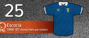 Jersey Fútbol Escocia 1988-1991
