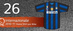 Jersey Fútbol Internazionale 2010-2011
