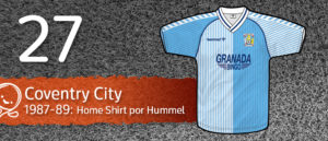 Jersey Fútbol Coventry City 1987-1989