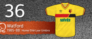 Jersey Fútbol Watford 1985-1988