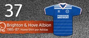 Jersey Fútbol Brighton & Hove Albion 1985-1987