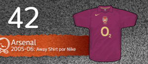 Jersey Fútbol Arsenal 2005-2006