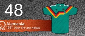 Jersey Fútbol Alemania 1991
