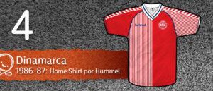 Jersey Fútbol Dinamarca 1986-1987