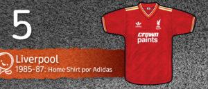 Jersey Fútbol Liverpool 1985-1987