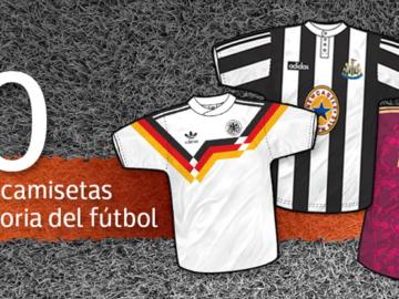 Las 50 mejores camisetas de la historia del Fútbol
